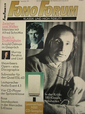 FONO FORUM 1991-09 ● BOSE im MERCEDES BENZ – AUDIO EVENT AE 4.1 – QUAD ESL 63 gebraucht kaufen  Bergisch Gladbach