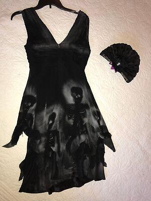 Day of the Dead dress COSTUME size 8 dia de los muertos corpse bride Halloween - Halloween Costumes Bride Of The Dead