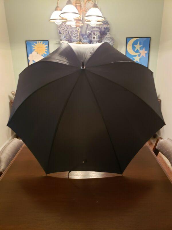 Vintage Black Umbrella 44 Inches Wide