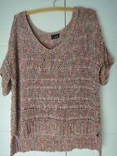 SIZE L BARDOT BRAND - KNITTED RIBBON SOFT LOOSE TOP- AS NEW Collingwood Park Ipswich City Preview