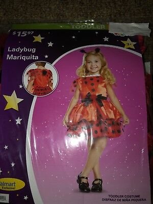Halloween Costume Girls Lady bug Mariquita  2T or - 3t Halloween Costumes