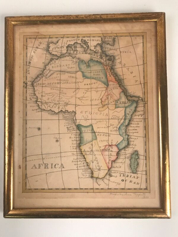 Antique 1828 Africa Map Congo Zanzibar