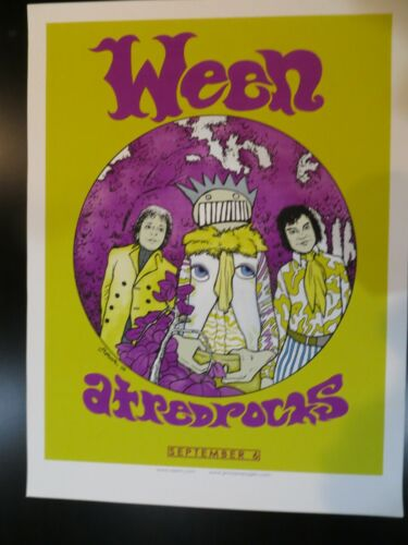 Ween Red Rocks September 6th 2009 Poster By Jermaine Rogers Jimi Hendrix Rare!