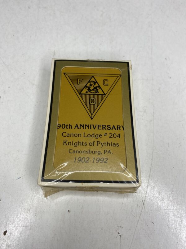 Vintage Knights of Pythias Deck of Bridge Playing Cards (Canonsburg, PA) Sealed