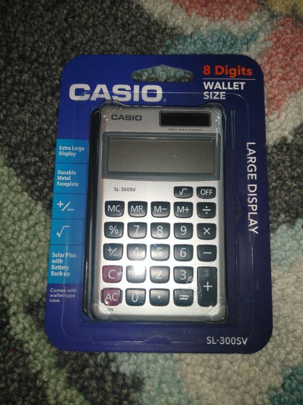 Casio SL300SV 8-Digit  Solar and Battery Powered Handheld Calculator