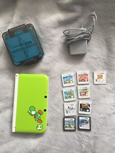 Nintendo 3DS XL Yoshi special edition & accessories