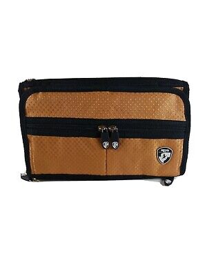 HEYS Hanging Toiletry Hygiene Gold Bag Travel Organizer 11 Compartments NWOT
