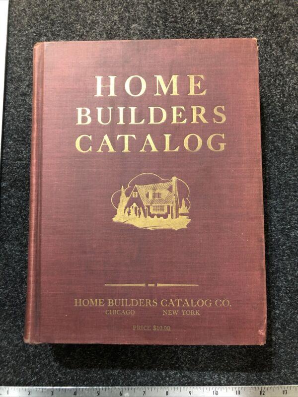 VTG 1927 HOME BUILDERS CATALOG, 1256PP -DESIGNS, CONSTRUCTION MATERIALS, PRINTS