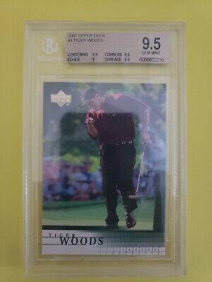2001 UPPER DECK GOLF TIGER WOODS #1 ROOKIE CARD - BGS 9.5 GEM MINT