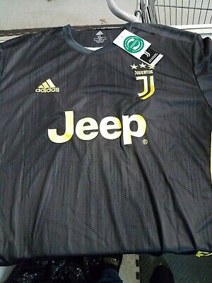 Adidas Ronaldo Jersey #7 Juventus Black Yellow Climalite Size XL NWT Jeep Soccer Adidas Yellow Soccer Jersey