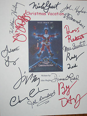 Christmas Vacation Signed Script X14 Chevy Chase D'Angelo Quaid Lewis reprint