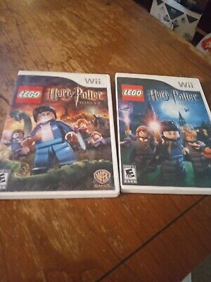 Nintendo Wii game lot Lego Harry Potter Years 1-4 & 5-7