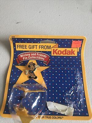 Vintage Walt Disney Lapel Pin 1989 Mickey Mouse Patriotic USA Eastman Kodak