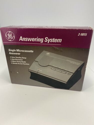 New GE Answering Machine System 2-9815