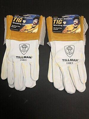 Tillman Small Top Grain Goatskin Tig Welding Gloves Model 1328 S Yellowing Read