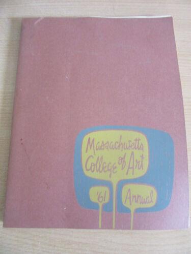 Vintage 1961 Massachusetts College of Art School Yearbook