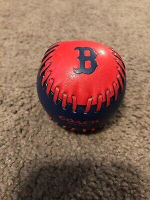 Coach MLB Major League Baseball Boston Red Sox Leather Baseball -