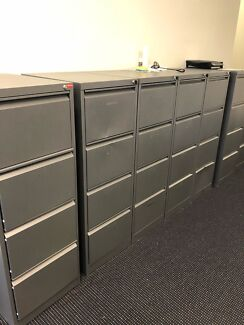 6x 4 draw filing cabinets