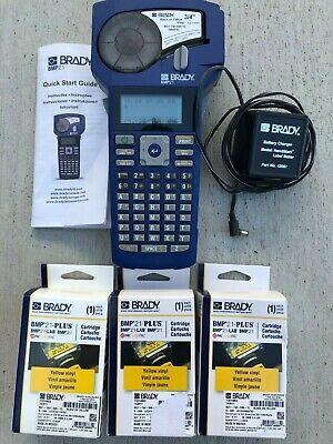 Brady Bmp21 Handheld Label Printer Bundle W3 Cartridges M21-750-595-yl Y3314603