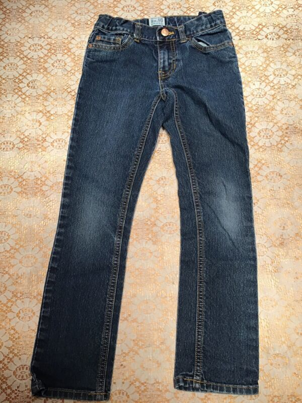 Girls Childrens Place Blue Jeans, Size 8.   Skinny, Stretch.  Adjustable Waist.