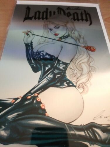 Lady Death Unholy Ruin 1. Mistress Metal Edition. Chatzoudis Cover. Signed.