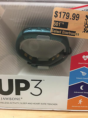 UP3 by Jawbone Heart Rate, Activity + Sleep Tracker, Teal Cross, New