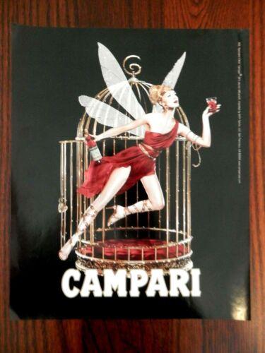 2005 PRINT AD, Campari, #22 Spiccare il Volo, Woman with Wings & BIrdcage