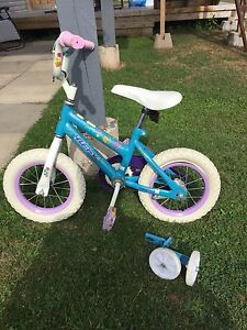 Toddler bike with training wheels also