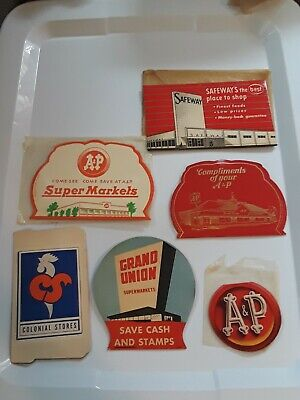 6 Vintage Advertising Sewing Needle Books ALL SUPERMARKETS A&P SAFEWAY COLONIAL
