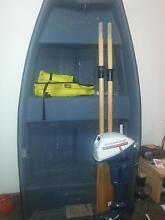 7ft fiberglass tender dingy boat 4hp Seven Mile Beach Clarence Area Preview