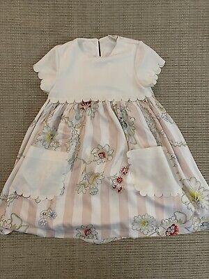 Fendi Girls Floral Dress Size 6 RARE