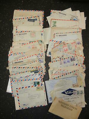 Lot of Correspondence Letters 1950s 1960s Turkey & Baltimore Stamps