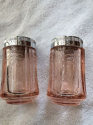Indiana Glass Pink Recollection- Federal Madrid Replica-salt and pepper shaker