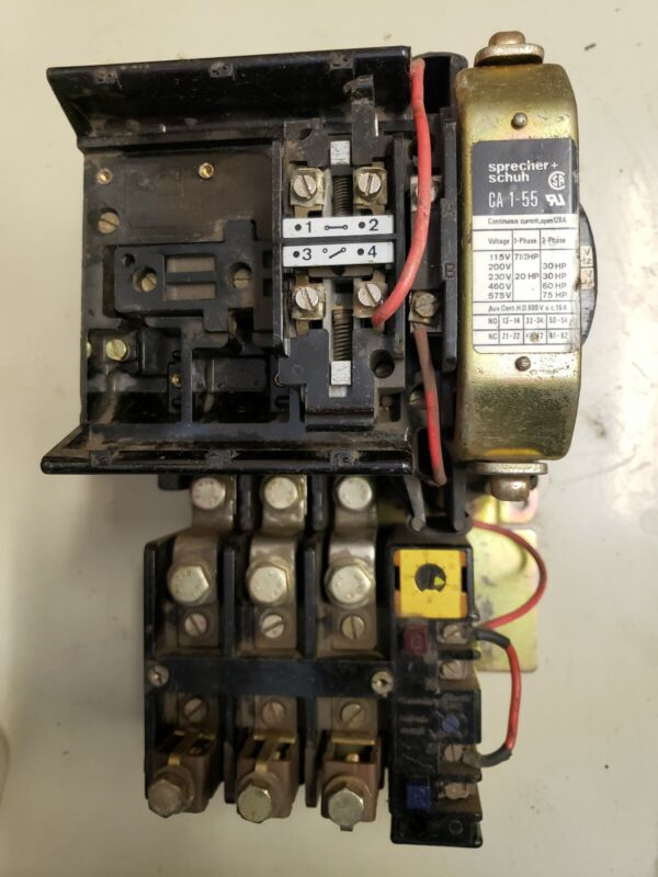Sprecher schuh contactor, CA 1-55 with CT 1U-100 overload protection