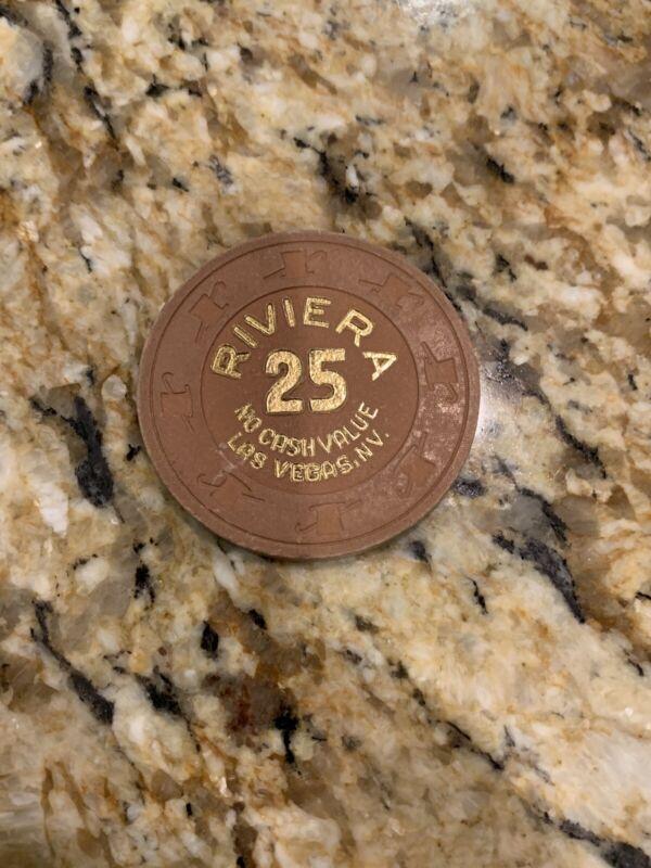 Vintage Riviera Las Vegas Casino NCV $25 No Cash Value Tournament Chip