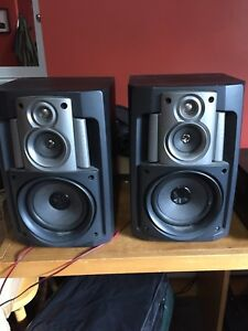 Stereo Speakers and Technics SA-GX190 Stereo Receiver