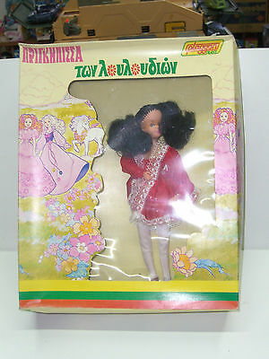80'S VINTAGE SUSY PLAGGONA FASHION DOLL GREEK FLOWER PRINCESS MIB