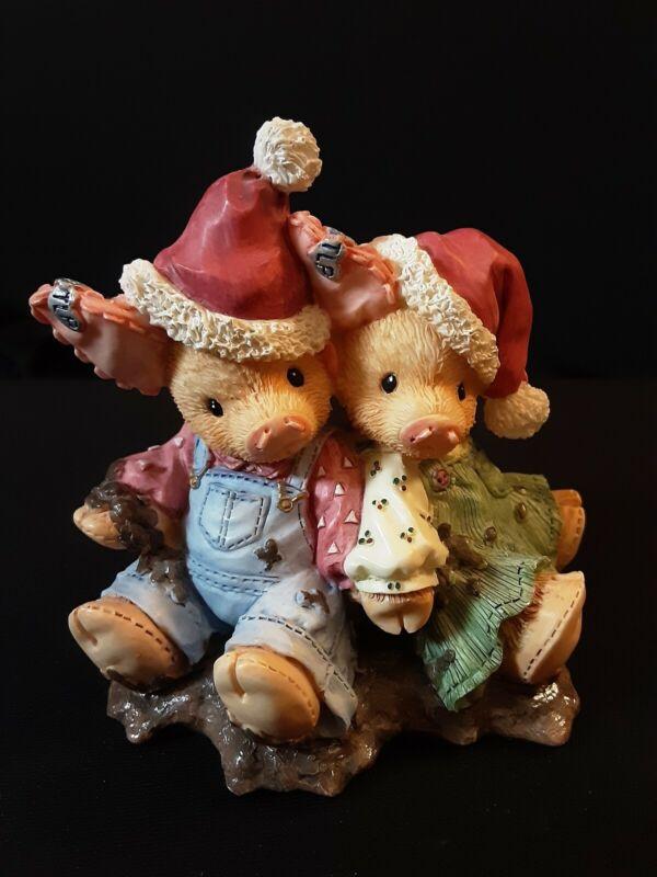 Enesco This Little Piggy We Squish You A Merry Christmas 1995 No Box