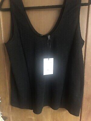 Theory Women's BLK Linen Knit Tank NEW SZ Large