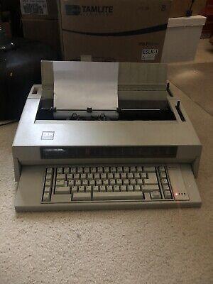 Vintage Ibm Wheelwriter 3 Electronic Typewriter With Cover -