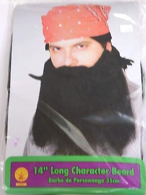14 Inch Black Beard Character Halloween Prop Trick or Treat Costume Theater - Bearded Characters Halloween