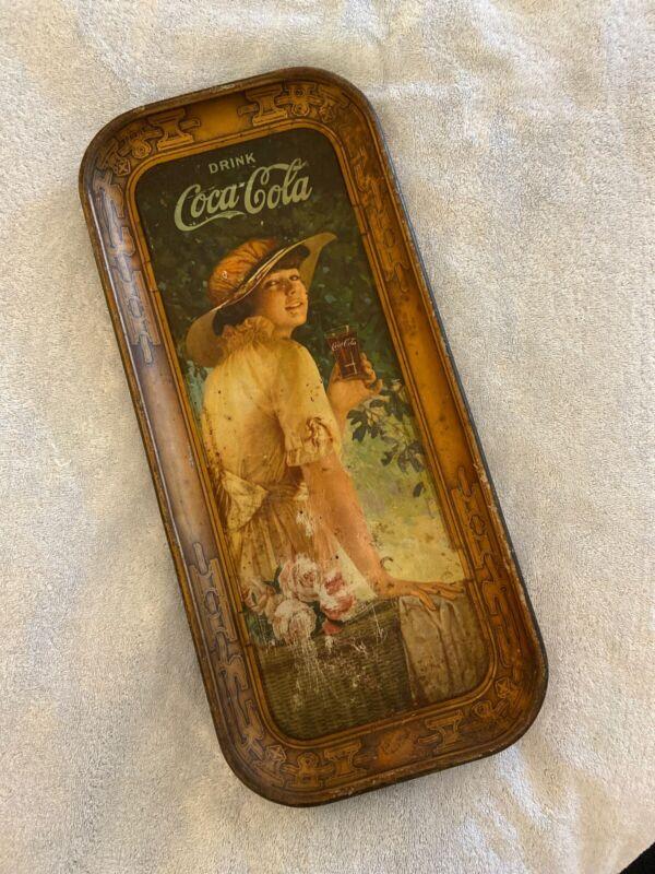 Coca Cola Original 1916 Elaine Advertising Serving Tray Authentic