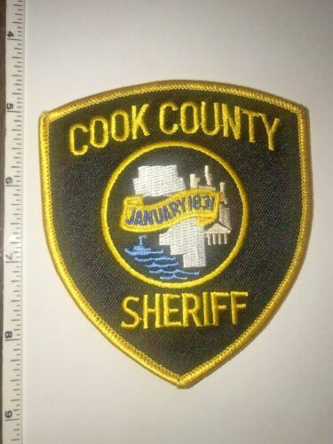 Cook County Sheriff Illinois Police shoulder patch New