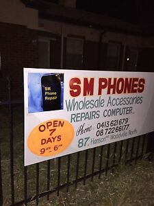 SM. Phones: Central services , accessories in Adelaide Woodville North Charles Sturt Area Preview