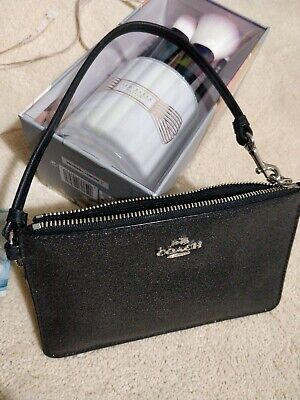 real coach sparkly wallet purse wristlet small coin card holder may be phone