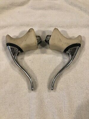 Campagnolo Shield Logo Brake Lever Hoods yellowed Second choice Pair of white
