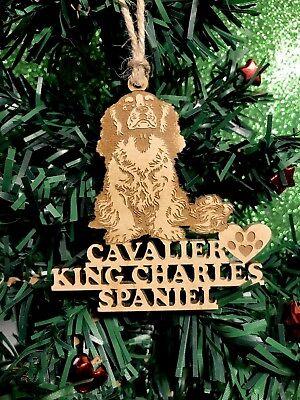 - Cavalier King Charles Spaniel Christmas Ornament & 2 FREE MAGNETS