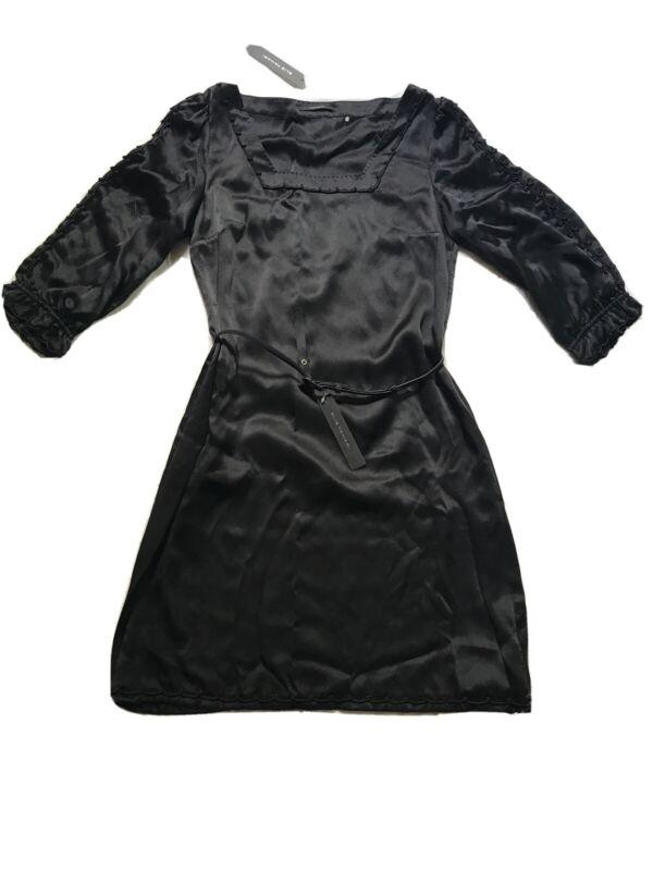 Elie Tahari Nwt Black 100% Silk Micaela Dress Size 6