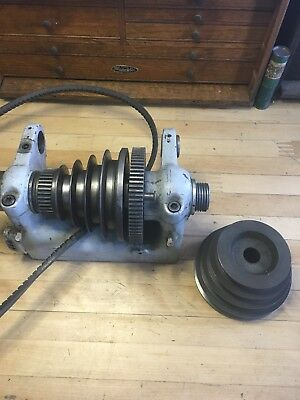 South Bend 9a Lathe Headstock With V Belt Spindle Pulley And Countershaft Pulley