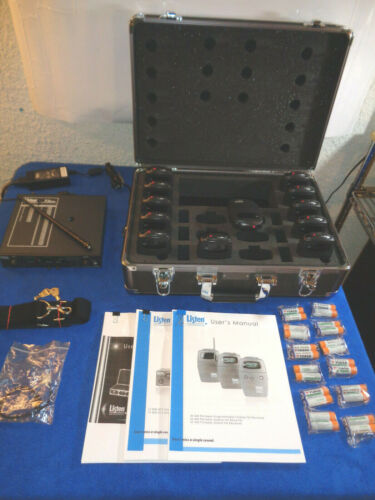 Listen Technologies LR-300 Fm Receivers, LT-800-72 Transmitter, LA-300 Chgr Case
